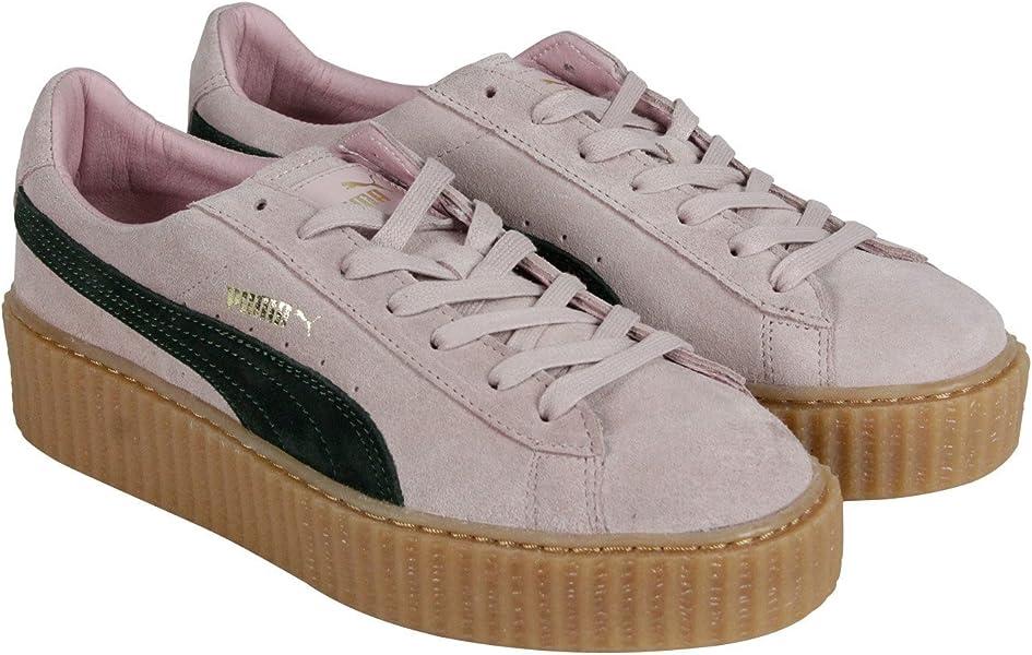 6c6f1190e17939 Puma X Rihanna Womens SZ 7 Suede Creepers Pink Green Oatmeal Fenty ...