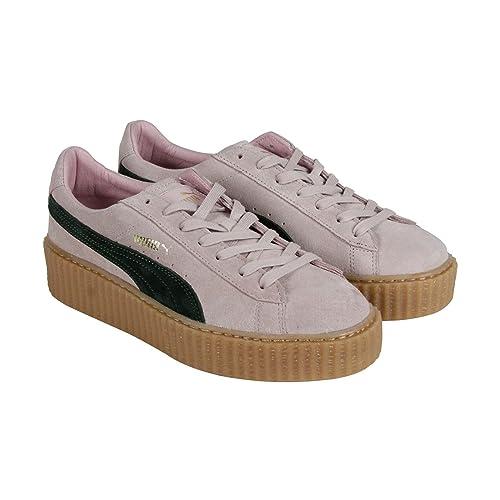 Puma Suede Rihanna Fenty Creepers para Mujer Rosa Suede Lace Up Zapatillas Zapatos 7: Amazon.es: Zapatos y complementos