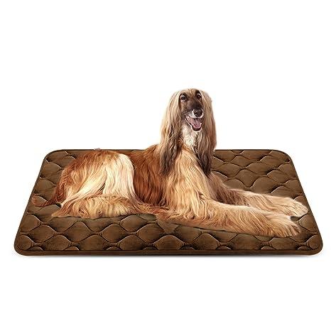 Hero Dog Cama Colchoneta Perro Grande Lavable, Cojines para Mascotas Antideslizante Vellón Almohadilla Suave 120x85 cm (Café XL)