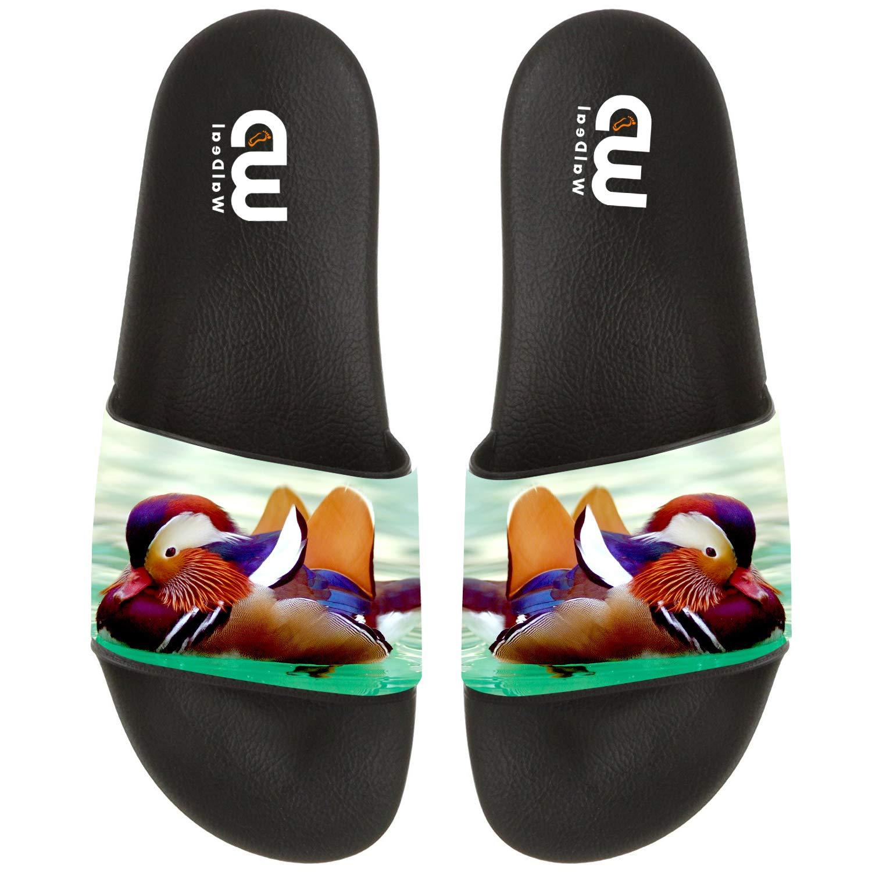 Central Park Mandarin Duck Print Summer Slide Slippers For Men Women Kid Indoor Open-Toe Sandal Shoes