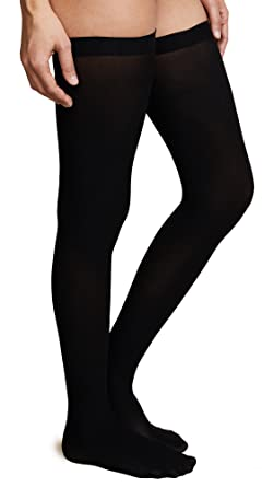 80d2e3f6a4332 Commando Women's Up All Night Thigh Highs, Black, M/L at Amazon ...