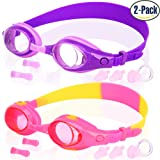 Amazon Price History for:Kids Swim Goggles, Pack of 2, Swimming Glasses for Children and Early Teens from 3 to 15 Years Old, Anti-Fog, Waterproof, UV Protection, Made by COOLOO