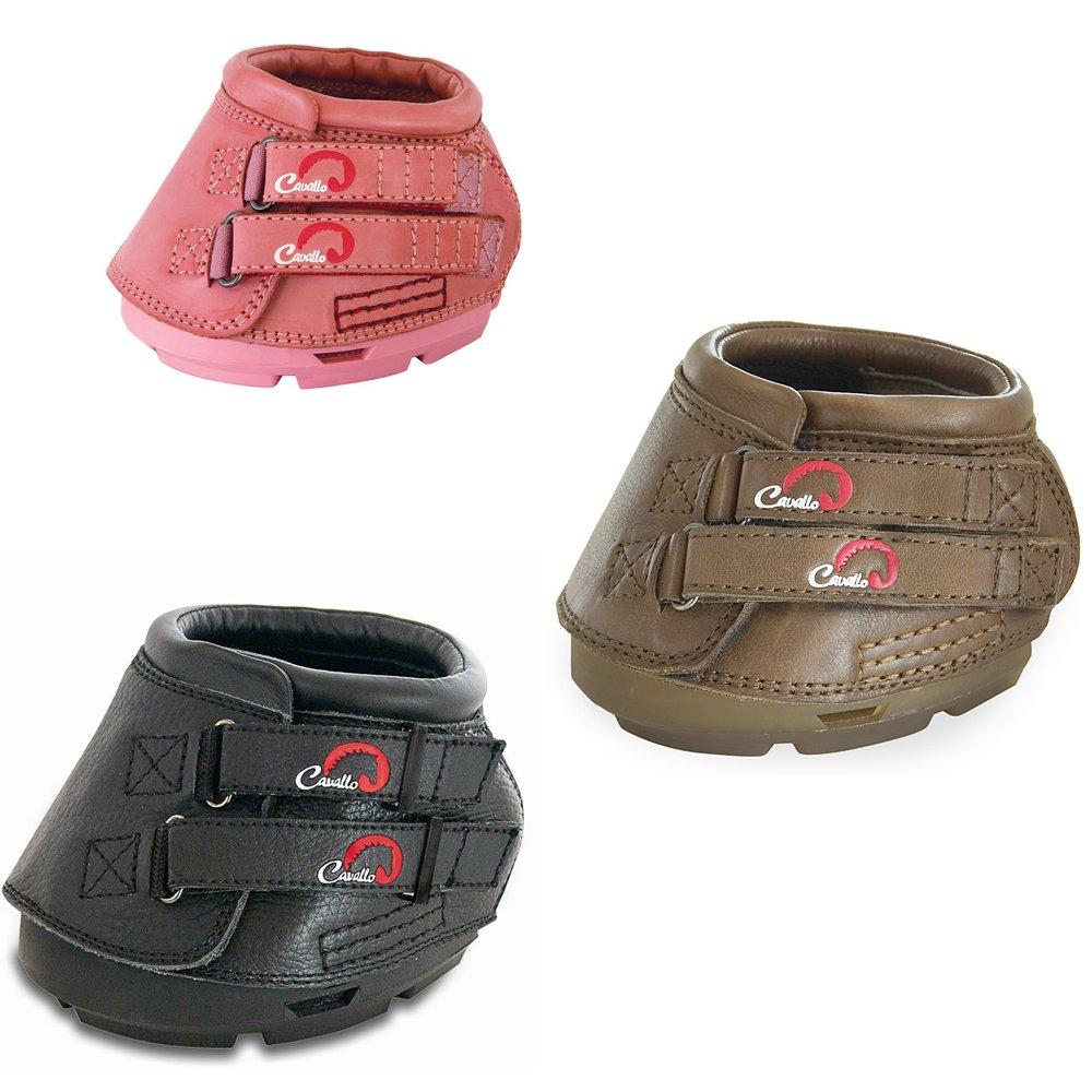Cavallo Simple Boot Barfuß Schuh für Pferde, 1 Paar, Erhältlich in Schwarz, Braun oder Pink - Perfekte Passform, die das natürlcihe Hufwachstum unterstützt und Raum für Hufwachstum bietet