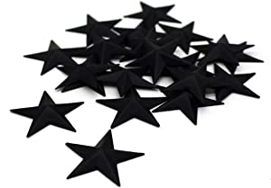 CVHOMEDECO. Primitives Rustic Country Décor. Black Mini Metal Barn Star Home Decorative Accents, 1-1/2 Inch, Set of 24