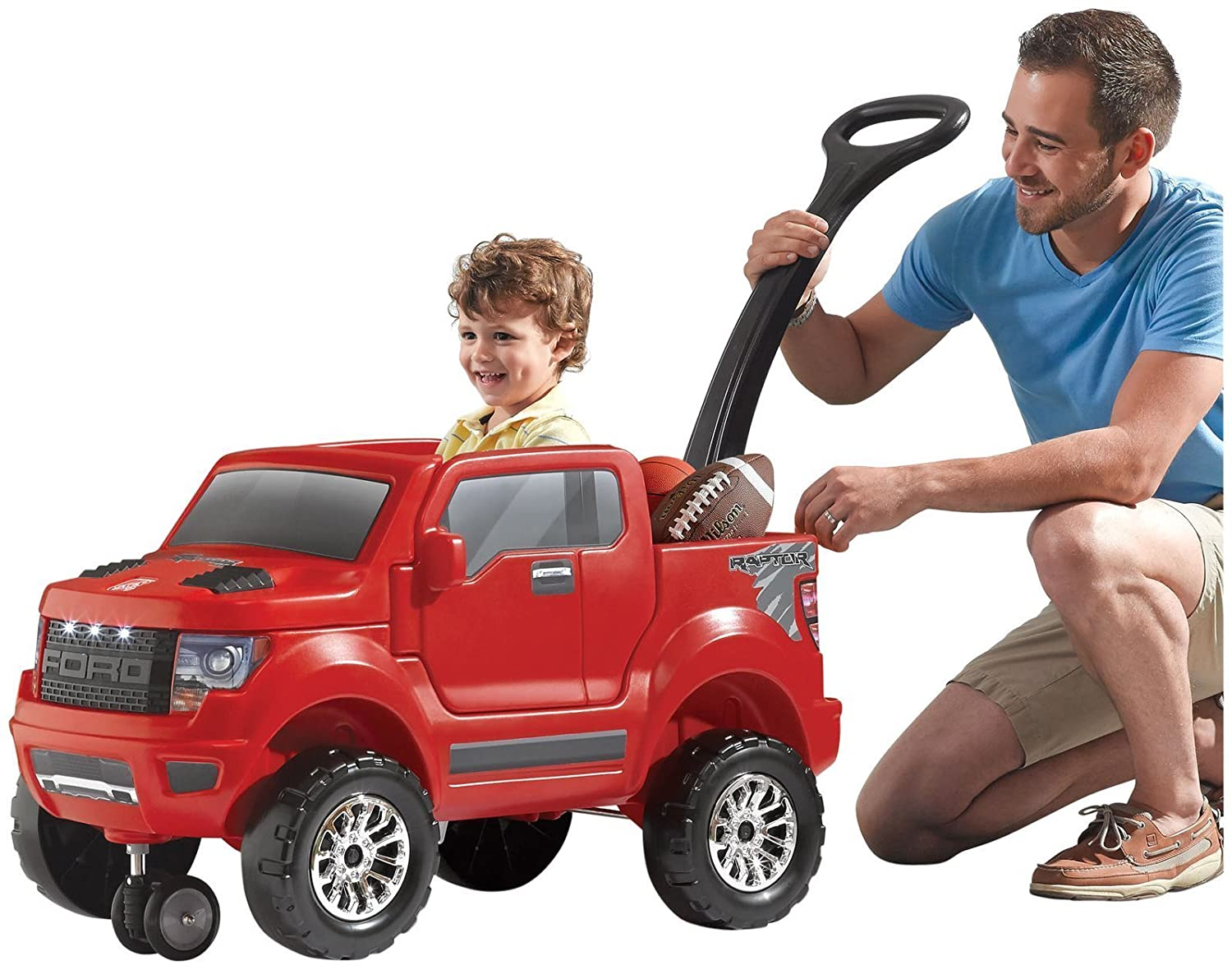 $42.57 (was $149) Step2 2-in-1 Ford F-150 SVT Raptor, Red