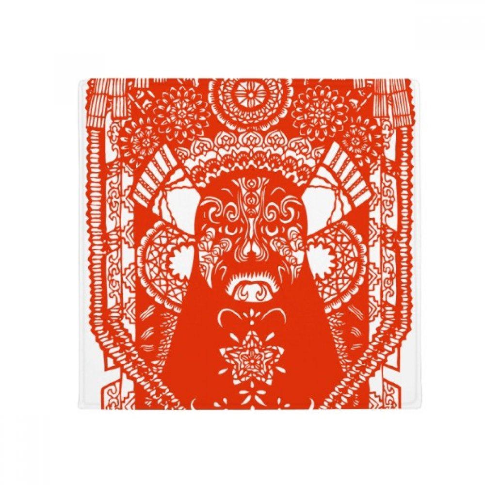 DIYthinker Red Peking Opera Paper-Cut Facial Mask Anti-Slip Floor Pet Mat Square Home Kitchen Door 80Cm Gift