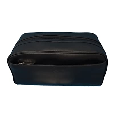 COACH Leather Travel Dopp Kit Toiletries Bag in Black 58542