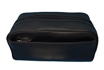d8103b79ec0f Image Unavailable. Image not available for. Colour  Coach Leather Travel  Dopp Kit Toiletries Bag in Black 58542