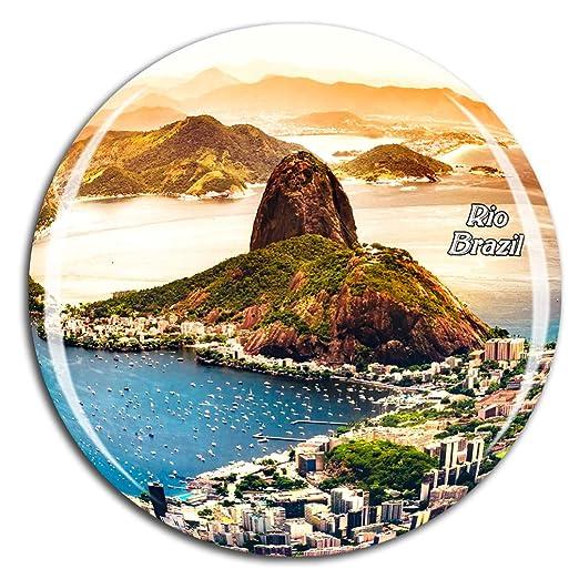 Weekino Brasil Rio De Janeiro Brasil Imán de Nevera 3D de Cristal ...