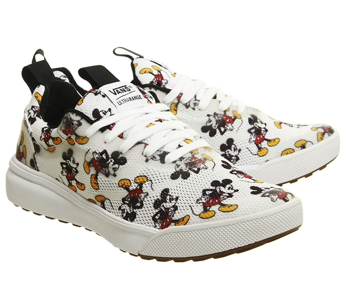 Amazon.com | Vans Disney Ultrarange Rapidweld Mickey Mouse White Sneakers | Shoes