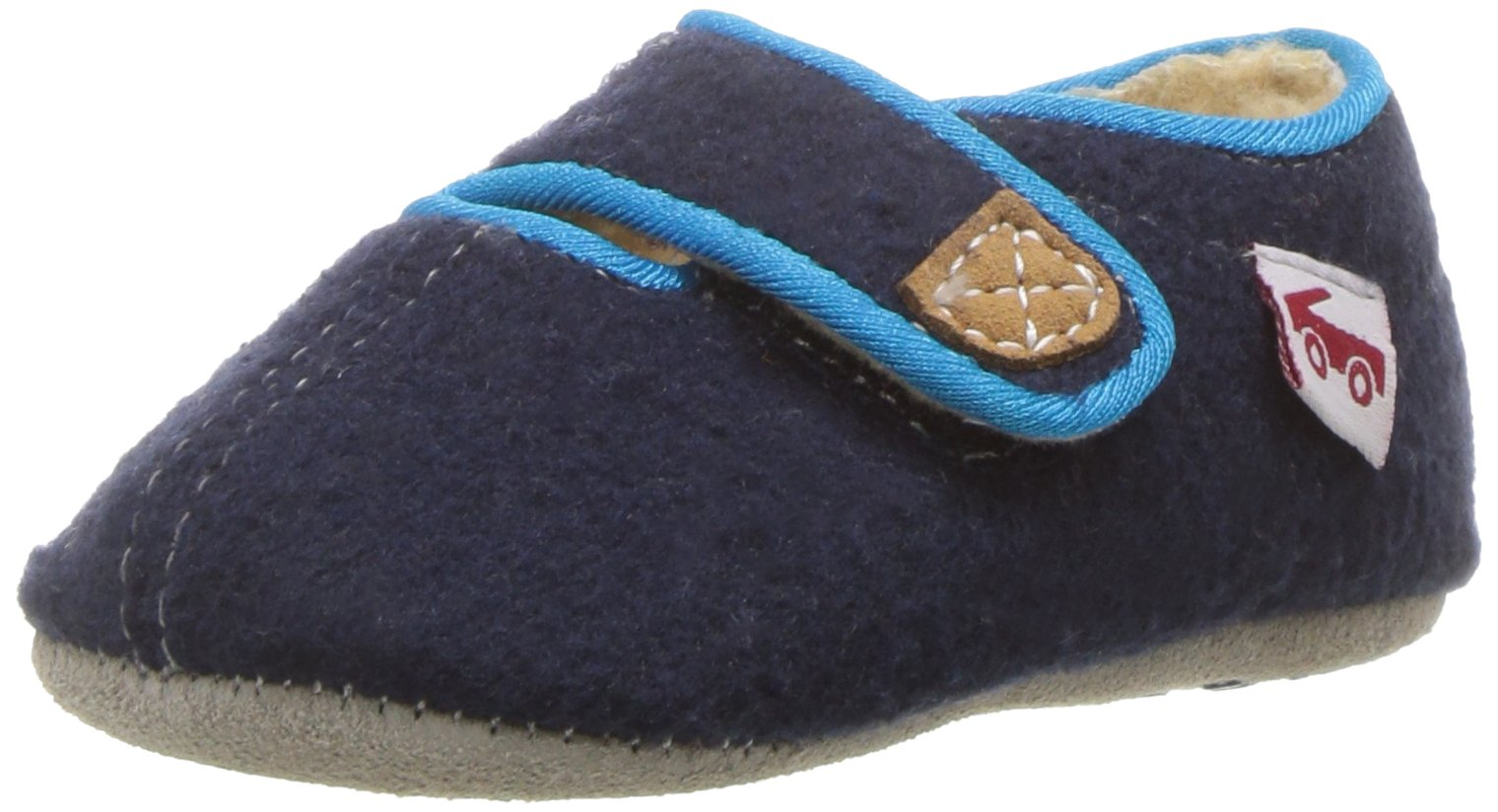 See Kai Run Boys' Cruz CRB Shearling Slipper, Navy, 1 M US Infant by See Kai Run