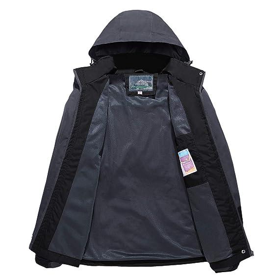 d7f1de38e21 Amazon.com : TACVASEN Women's Hooded Windproof Thin Jacket Waterproof  Raincoat Sportswear : Sports & Outdoors