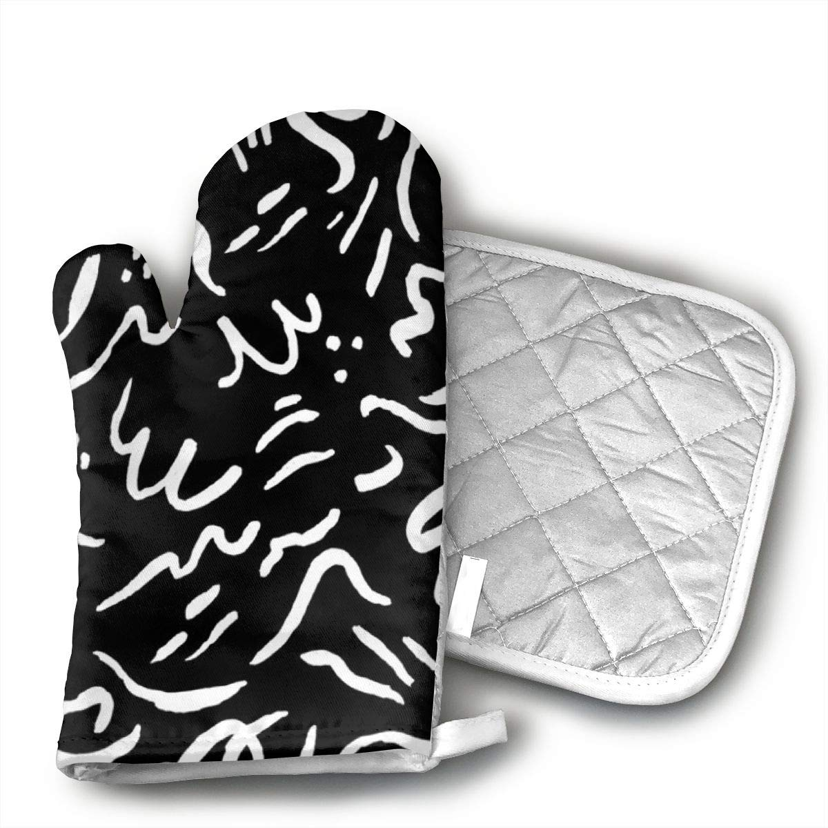 not Patterns - Will Bryant Studio Insulated Gloves Mats Non-Slip Surface Safety for Baking Cooking Grilling