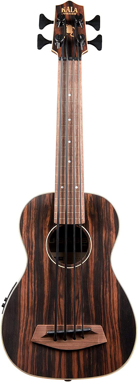 B07BL47ZR2 Kala UBASS-EBY-FL Striped Ebony Fretless U-Bass Acoustic-Electric Ukulele Bass Natural 71BWmnNpYuL.SL1500_