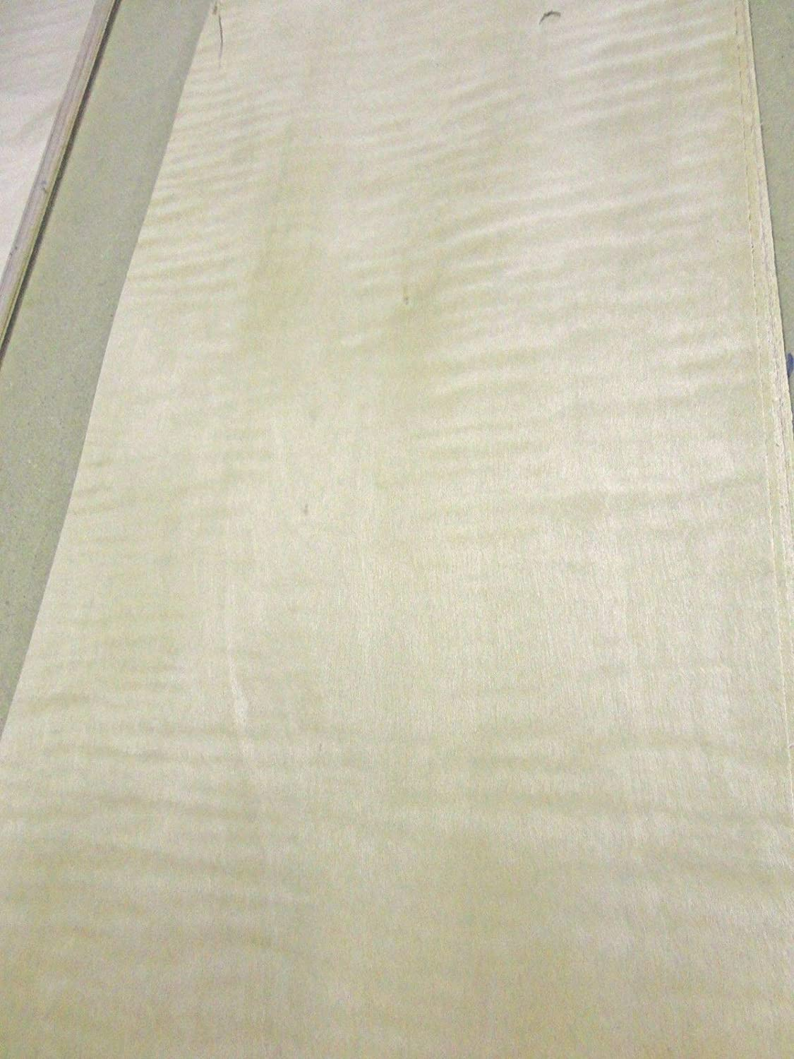 Curly Maple figured quilted wood veneer 7' x 37' raw no backing 1/42' thickness JSO Wood Products