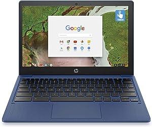 2020 HP 11.6 inch HD IPS Touchscreen Laptop Computer Chromebook, MediaTek 8 Core Upto 2 GHz, 4GB Ram, 32GB eMMC, 15Hr Battery Life, Plus VGSION Webcam