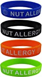 "Amazon Price History for:""NUT ALLERGY"" Silicone Wristbands - Blue, Orange, Green and Black Kids Size (4 Pack)"