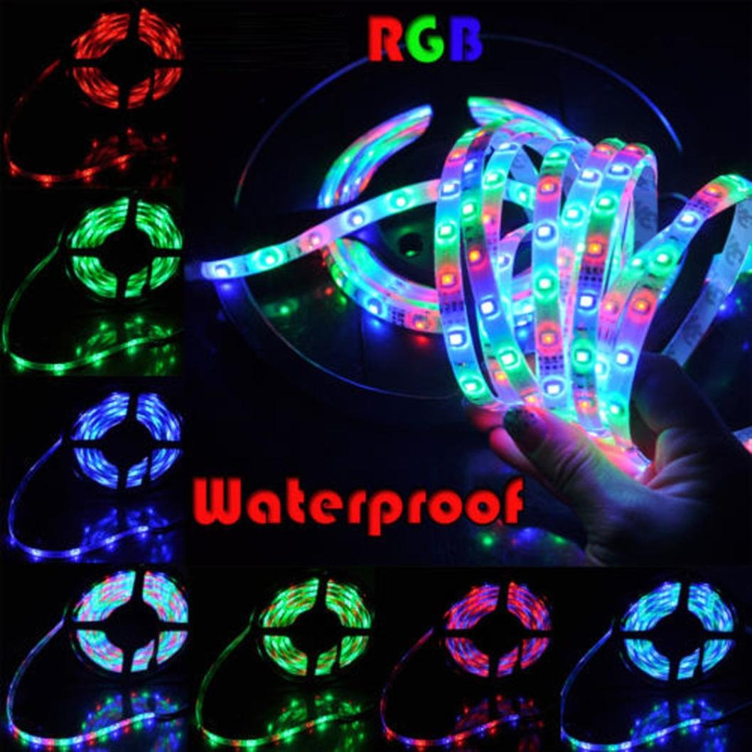 Liping DC12V LED Light Strip Remote Controller Consumption Low Power Flexible Ribbon for Curving Around Bends for Christmas Party Home Decoration (I)