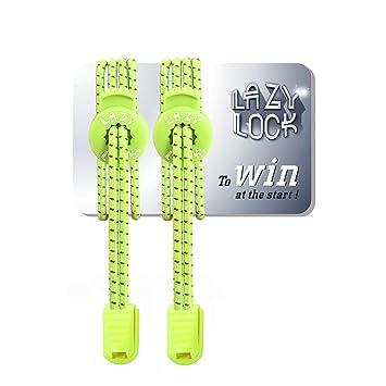 Lazy Lock De Cordones elásticos Deportivas sin Atar - poliéster Cordones maratón y triatlón Atletas, niños, Ancianos, etc: Amazon.es: Deportes y aire libre