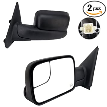 For 2002-08 Dodge Ram 1500 2500 3500 Towing Power Heated Side View Mirrors Pair