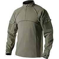 CQR Men's Combat Shirt Tactical 1/4 Zip Assault Military Top Camo EDC TOS201
