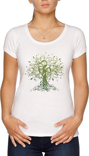 Meditar, Meditación, Espiritual Árbol Yoga Camiseta Mujer ...