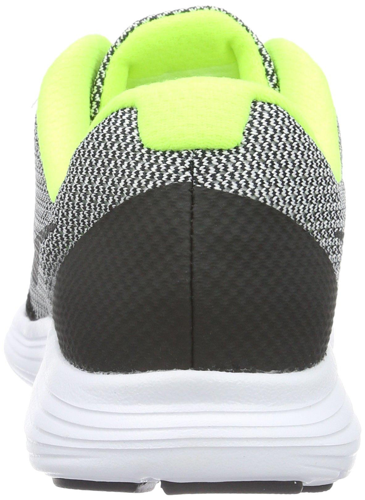 Nike Boys' Revolution 3 (GS) Running Shoe Black/White/Volt, 4.5 M US Big Kid by Nike (Image #2)
