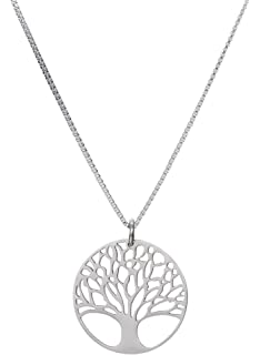 Amazon 925 sterling silver beautiful vintage style tree of life tree of life pendant 18 chain necklace stainless steel unisex for adults aloadofball Gallery