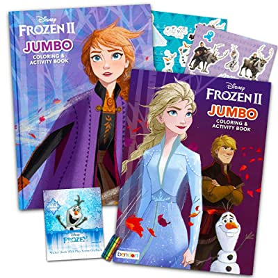 Disney Frozen 2 Coloring Book Set With Over 100 Stickers (Bundle Includes 2 Frozen Coloring Books): Toys & Games