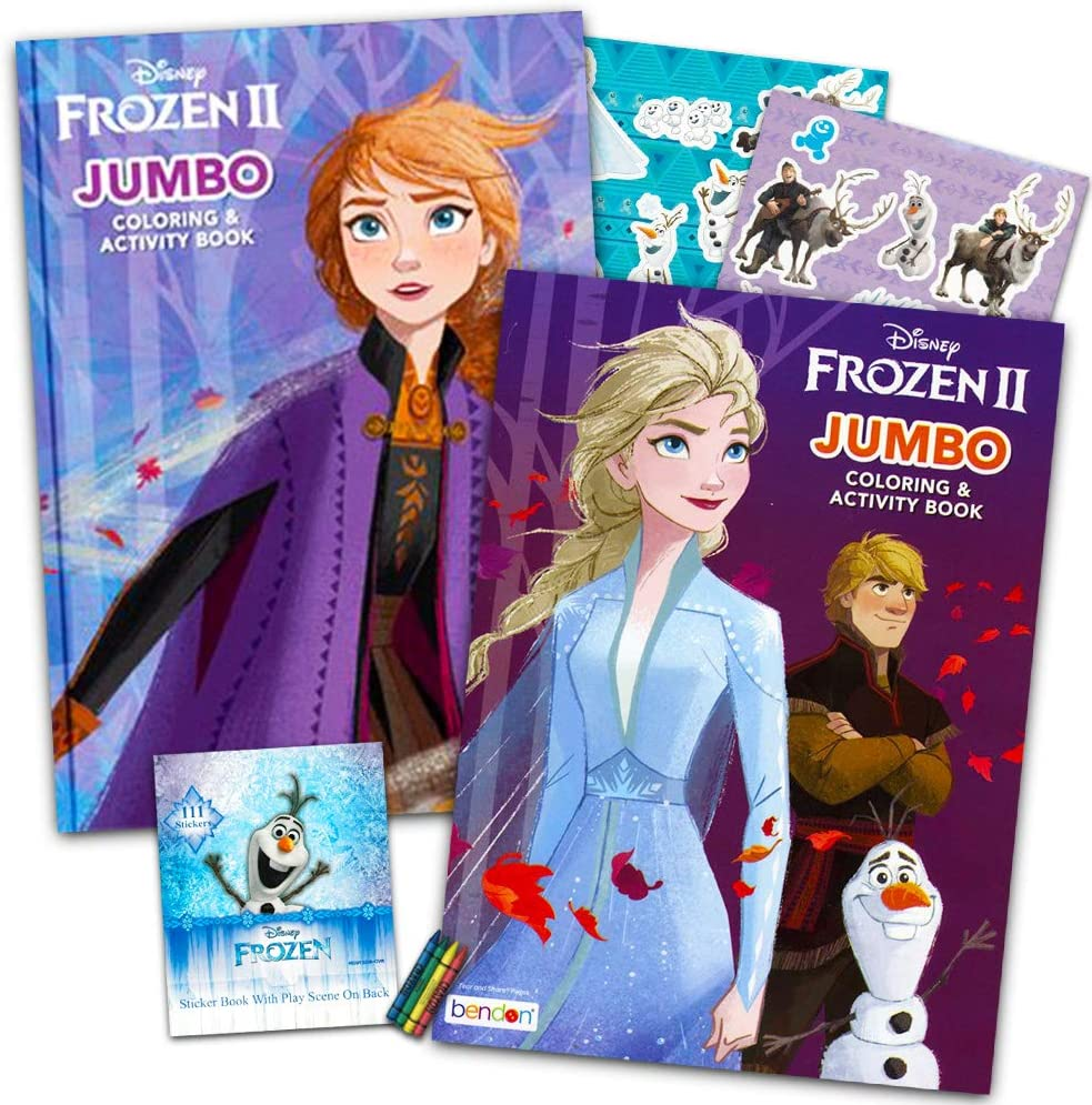 - Amazon.com: Disney Frozen 2 Coloring Book Set With Over 100