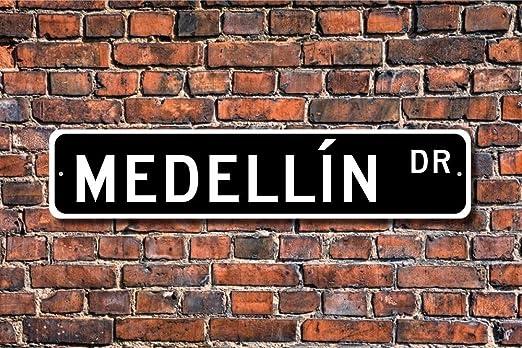 Aersing Cartel de Metal con Diseño de árbol de Medellin para ...