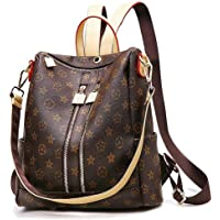 Olyphy Fashion Leather Backpack Casual Purse for Women,Designer PU Shoulder Bag Handbags Travel Purse