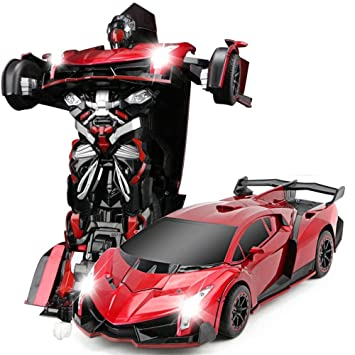 Buy The Flyers Bay One Button Transforming Car Into Robot With - Cool car features
