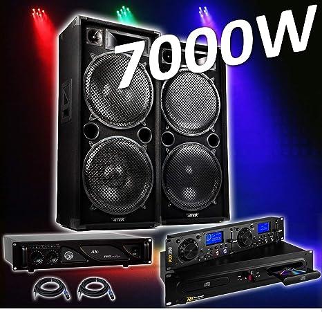 PACK SONO COMPLET 4000 W PRO DJ MAX-215 4 x 38 cm + Amplificador ...