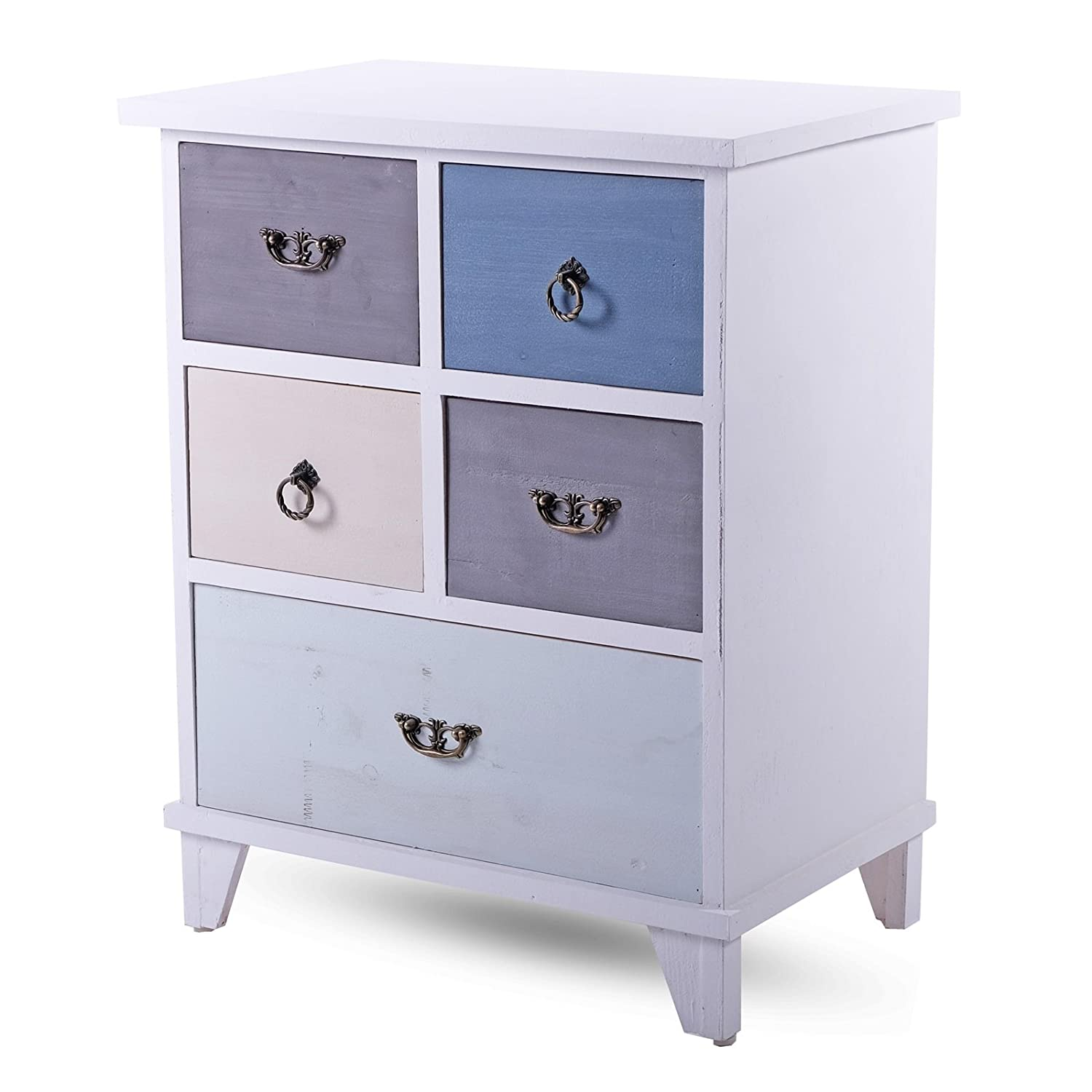 DESIGN DELIGHTS COUNTRY STYLE CHEST DRAWERS PETRONELLA | 5 drawers, 22x27 | sideboard xtradefactory