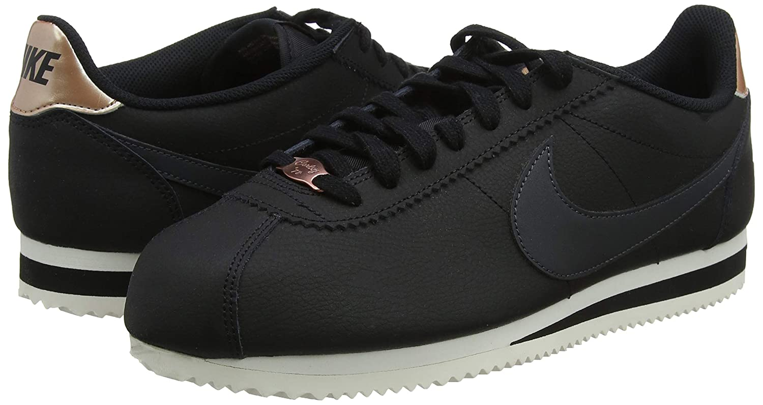 Amazon.com | NIKE Womens Classic Cortez Leather Black/Anthracite Casual Shoe 10 Women US | Fashion Sneakers