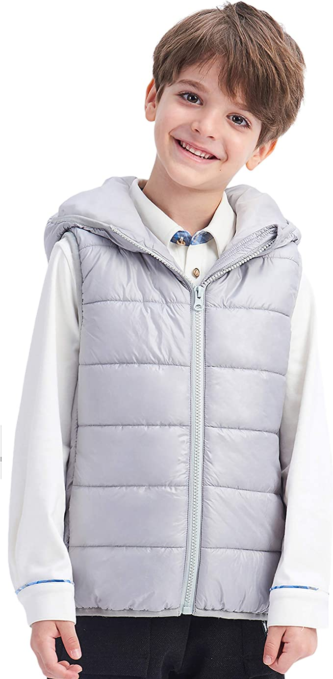 IKALI Boys Girls Gilet Puffer Vest Sleeveless Winter Jackets Choice of Colours