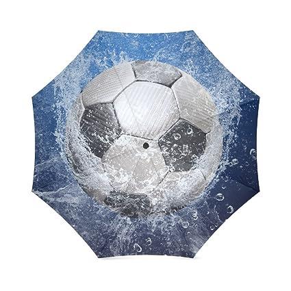 Fútbol balón de fútbol plegable paraguas con antideslizante agarre paraguas para negocios y viajes, Oversize