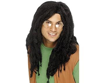 Smiffys Bob Marley estilo Negro Rasta Dreadlock peluca