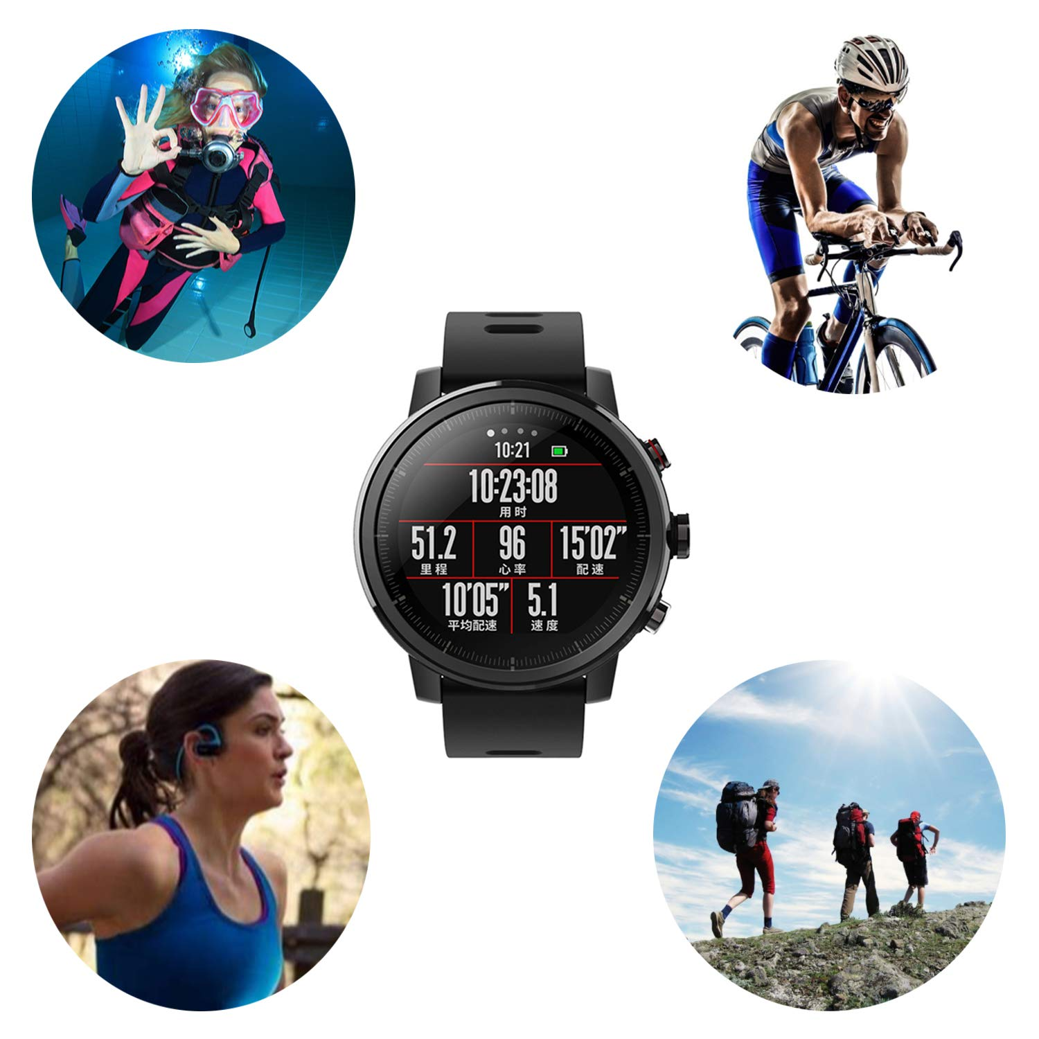 Xiaomi Huami Amazfit Smart Watch Stratos 2 Sports Pace Cover Bumper Case Shell Frame Protector Electronics