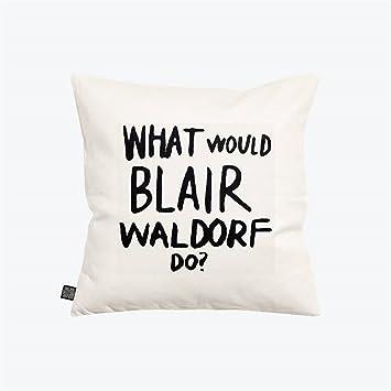 Sco O Home Dekorativer Überwurf Kissenbezug Kissenbezug, Quadratisch Weiß  Und Schwarz Blair Waldorf