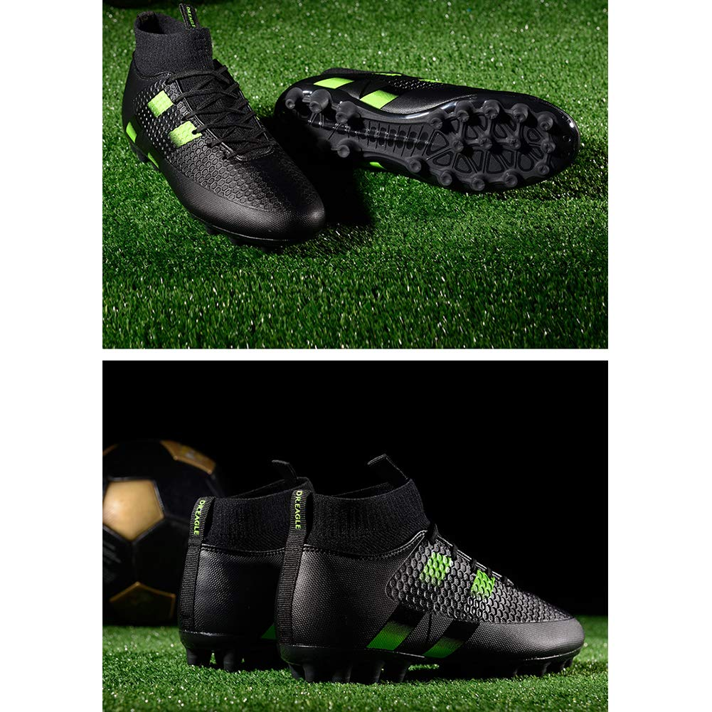 Scarpe da Calcio da Uomo Scarpe da Calcio Alte in Pelle Leggera con Tacchetti per lallenamento in Erba