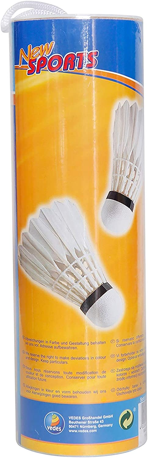 The Toy Company Sports Badminton Shuttlecocks Feathers 4/Pieces Per Box