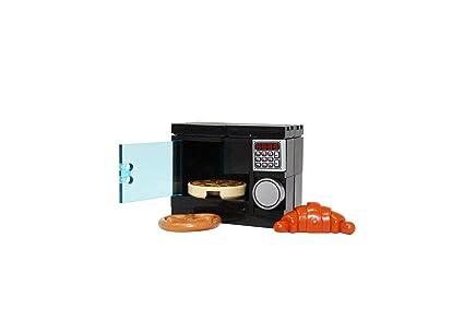 Amazon.com: LEGO Horno de microondas con pizza, Pretzel y ...