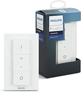 Philips Hue 929001173762 Smart Wireless Dimmer Switch with Remote, Installation-Free, Exclusive for Philips Hue Smart LED Light Bulbs