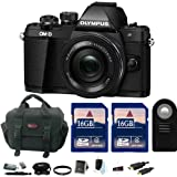 Olympus OM-D E-M10 Mark II Mirrorless Digital Camera w/ 14-42mm f/3.5-5.6 EZ Lens & 16GB Accessory Bundles
