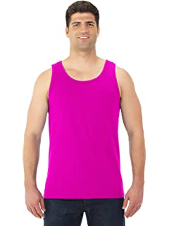 X-LARGE, PURPLE ADULT STYLE 180 POLY//COTTON ATHLETIC TANK