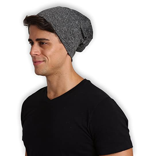 86419636fe Tough Headwear Stylish Summer Slouchy Beanie Hat - Unisex (One Size Fits  All) Black
