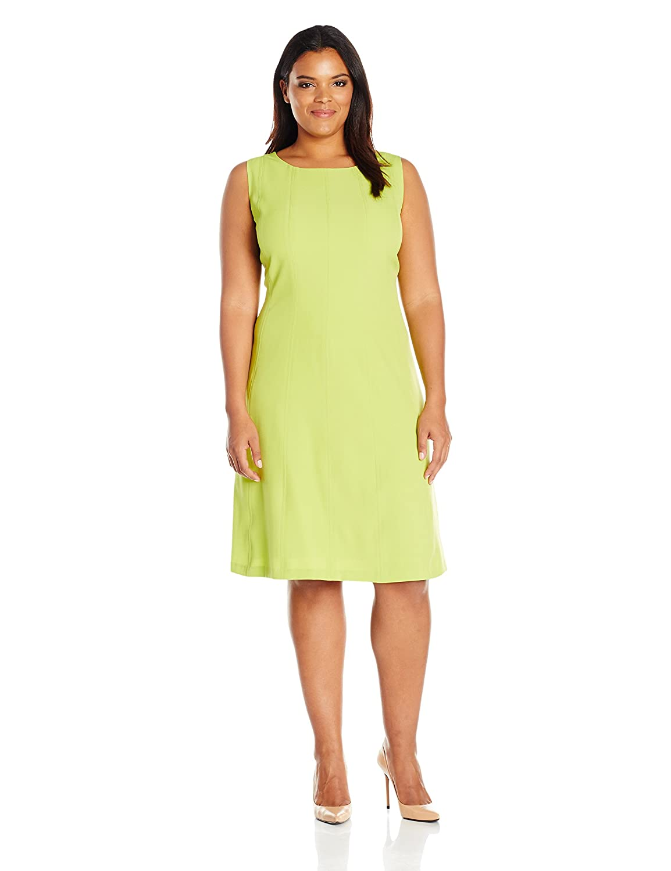 333fbee0ec1 Kasper Women s Plus Size Short Sleeve Crepe Seamed Dress at Amazon Women s  Clothing store