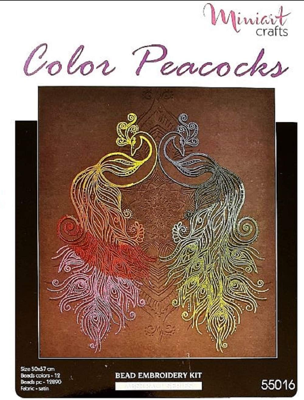 mehrfarbig 40 x 30 cm Miniart Crafts Perlenstickerei-Set